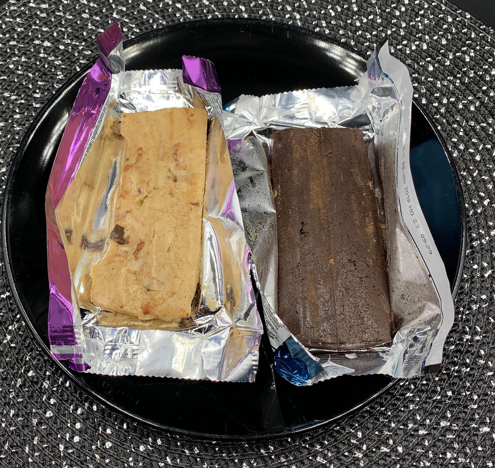 Costco Kirkland Signature Protein Bars. Chocolate Chip Cookie Dough and Chocolate Brownie