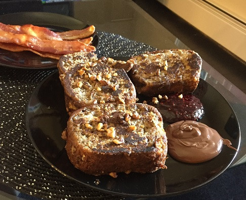 Costco Kirkland Signature Banana Nut Loaf French Toast