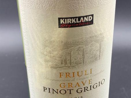 Costco Kirkland Signature Pinot Grigio 2018 Review