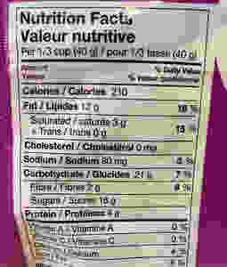 Costco WildRoots Coastalberry Trail Mix Nutrition