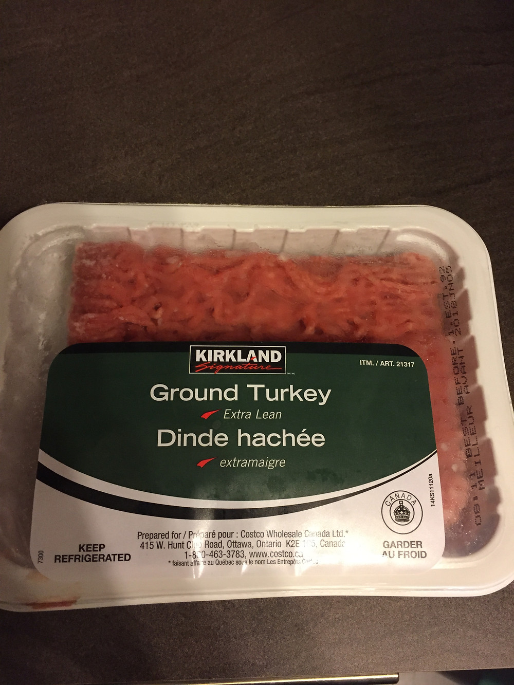 Costco Kirkland Signature Ground Turkey