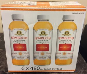 Costco GTS Kombucha Organic & Raw Gingerade