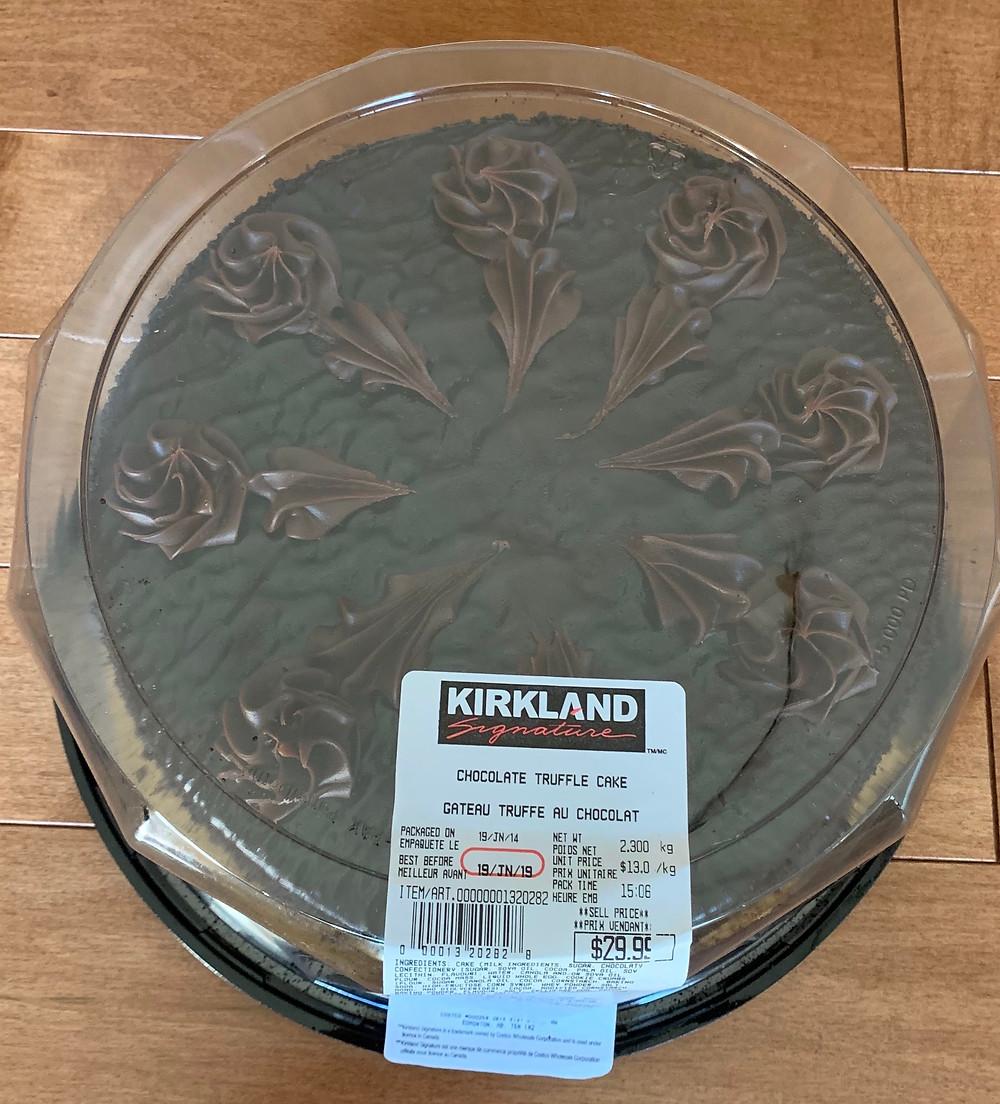 Costco Kirkland Signature Chocolate Truffle Cake