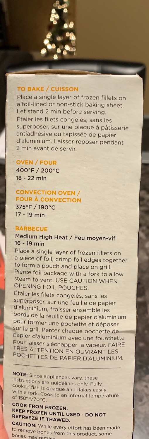 Costco High Liner Miso Glazed Cod Cooking Instructions