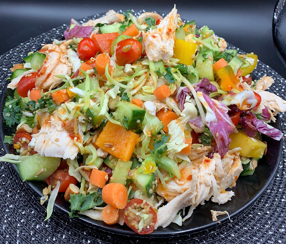 Enhanced Costco Taylor Farms Thai Style Chili Mango Salad