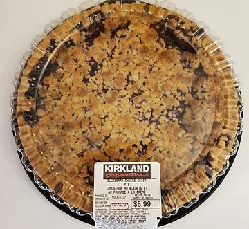 Costco Kirkland Signature Blueberry Cheese Crisp Pie