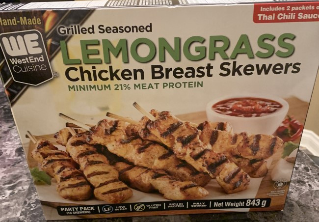 Costco Westend Cuisine Lemongrass Chicken Breast Skewers Review