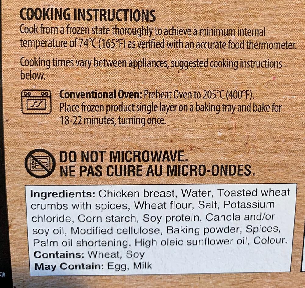 Costco Erie Meats Jumbo Chicken Breast Bites Ingredients
