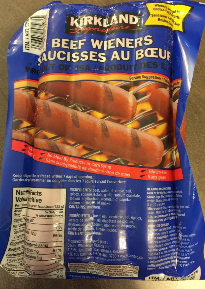 Costco Kirkland Beef Wieners