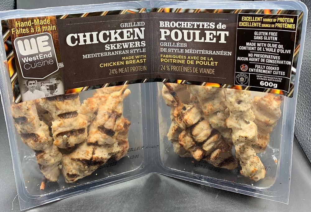 WestEnd Cuisine Grilled Chicken Skewers Mediterranean Style