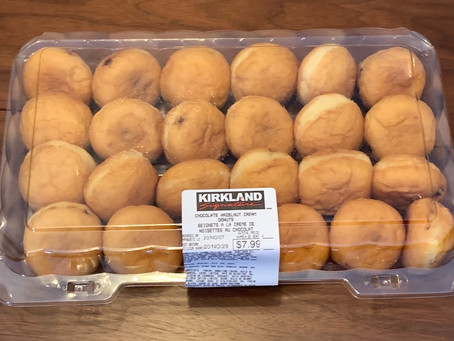 Costco Kirkland Signature Hazelnut Cream Donuts Review