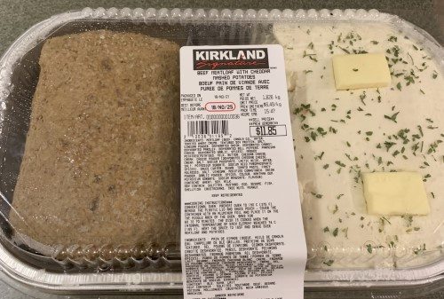 Costco Kirkland Signature Beef Meatloaf With Cheddar Mashed Potatoes