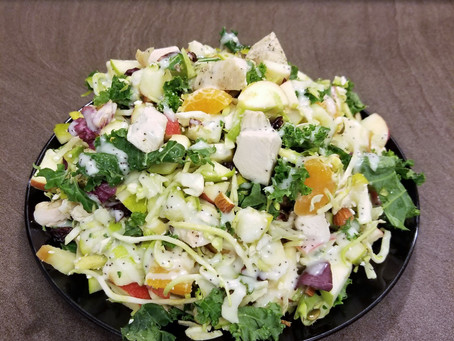 Healthy & Delicious Apple Pear Salad Recipe Using The Costco Sweet Kale Salad Kit