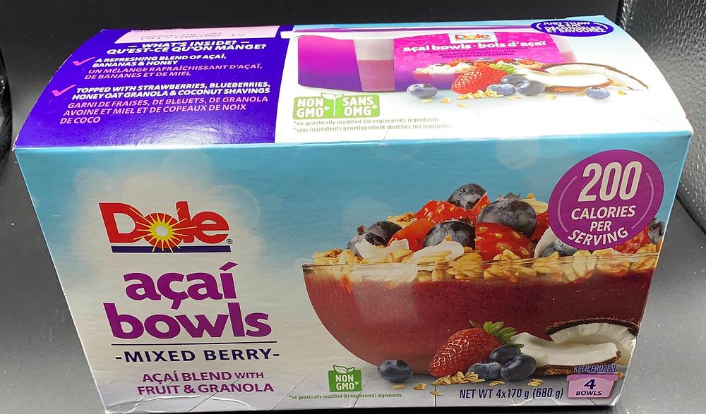 Costco Dole Acai Bowls