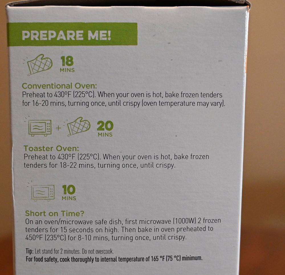 Costco Gardein Meat Free Crispy Tenders Cooking Directions