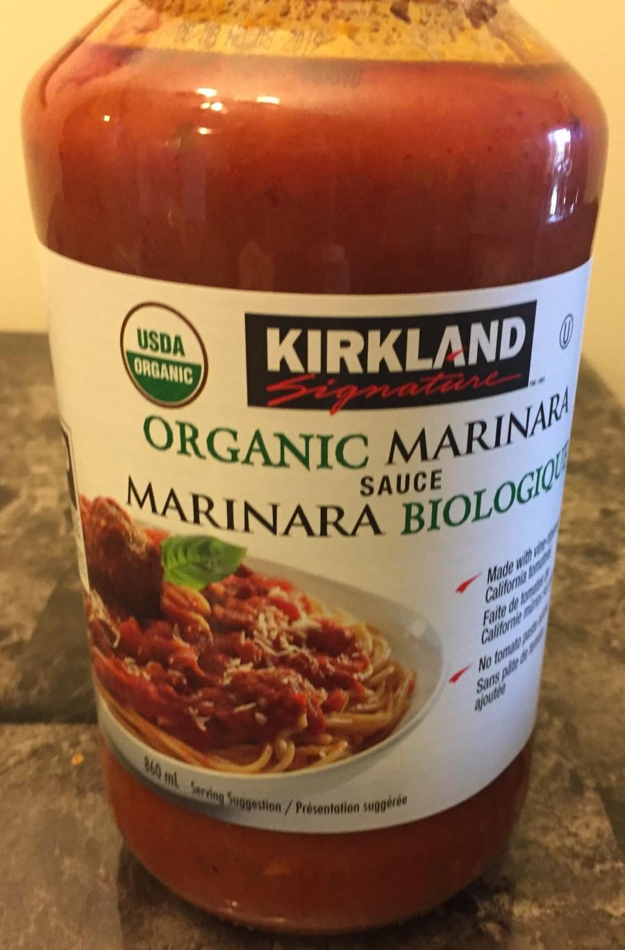 Costco Kirkland Signature Organic Marinara Sauce
