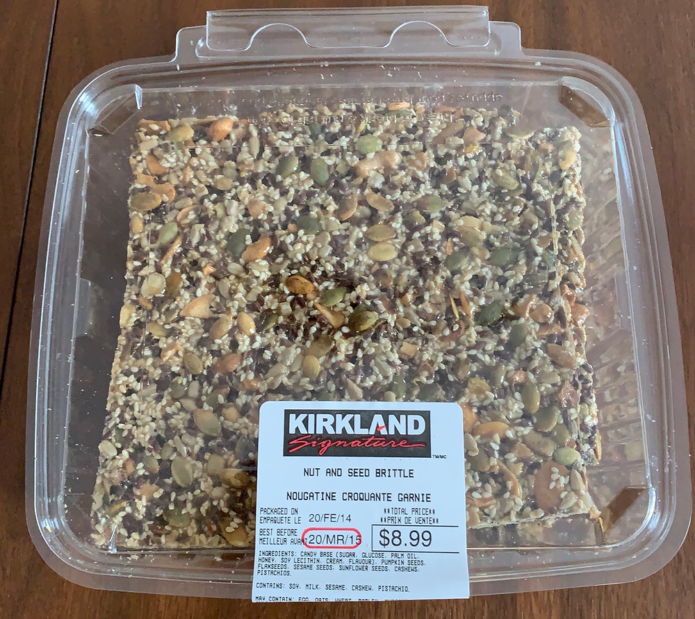 Costco Kirkland Signature Nut and Seed Brittle