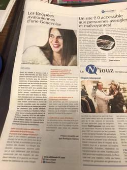 interview magazine _Nouvelles_ 2018