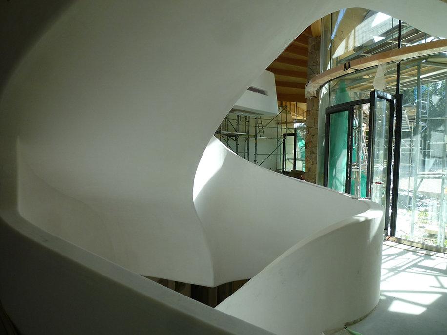Haus M (Schneckenhaus) innen im Bau Trep