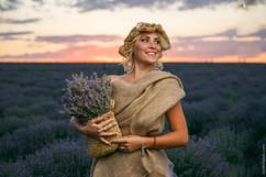 portrait of a girl in lavender field
