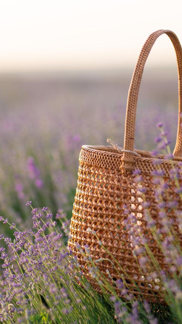 Фотозйомка плетених сумок для реклами