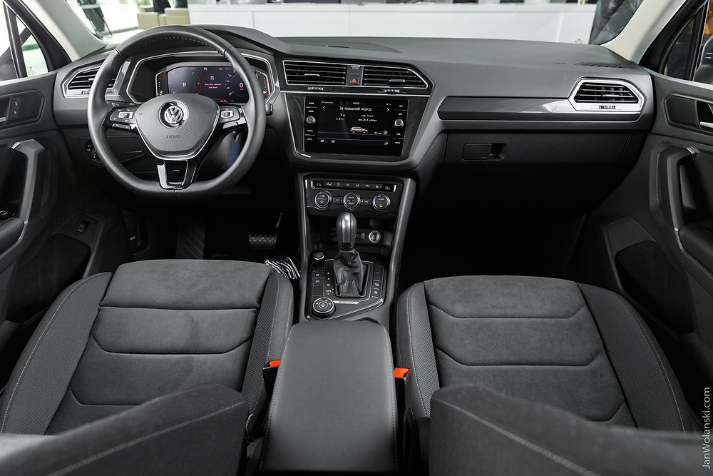 Volkswagen Tiguan R-line dark leather interior