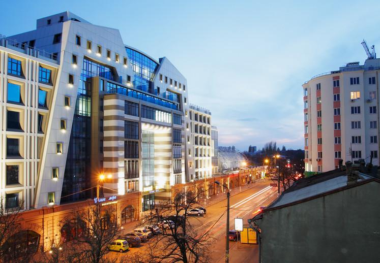 Фасад здания Нового Привоза. Одесса.