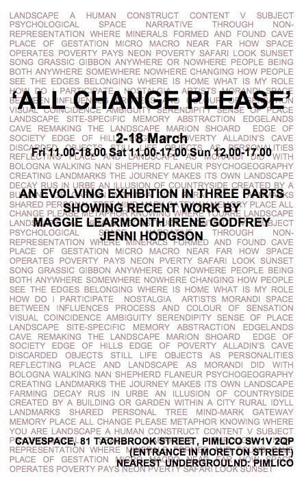 ALL CHANGE PLEASE poster