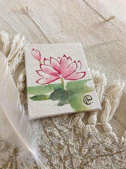 Aquarelle Chinoise Lotus ouvert