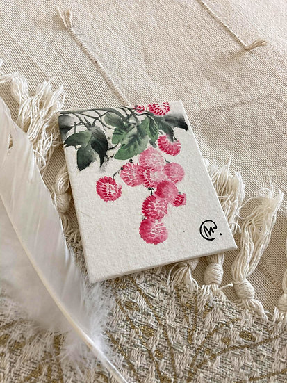 Aquarelle Chinoise Litchis
