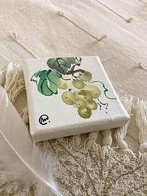 Aquarelle chinoise Raisins - Christine Magré art vibratoire