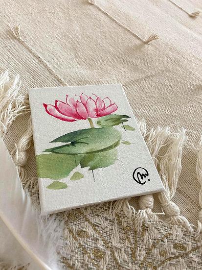 Aquarelle Chinoise Lotus