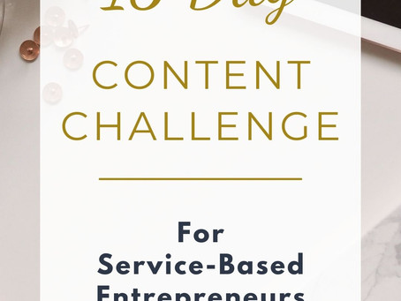 15 Day Content Challenge!