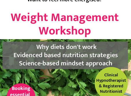 Upcoming Event: Weight Management & Mindset Workshop