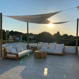 Salon sur la terrasse avec vue à 360º