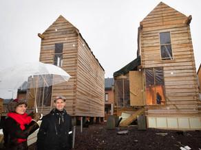 Helsingin ensimmäiset Minitalot rakennetaan käsinveistetystä hirrestä