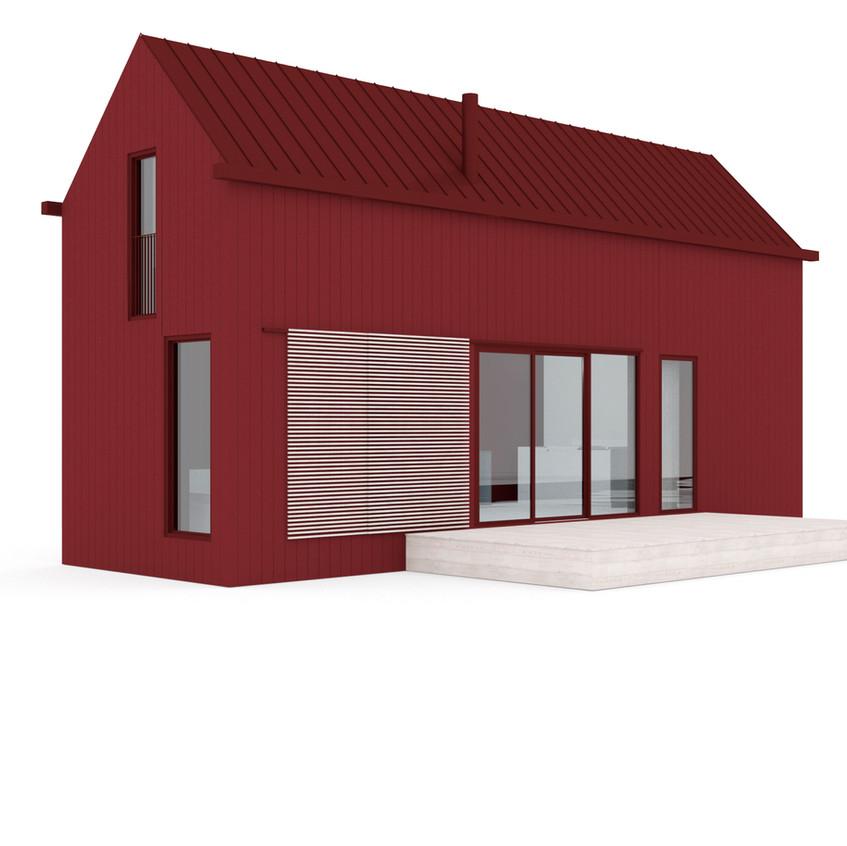 Minihouse Punamulta - korkea malli