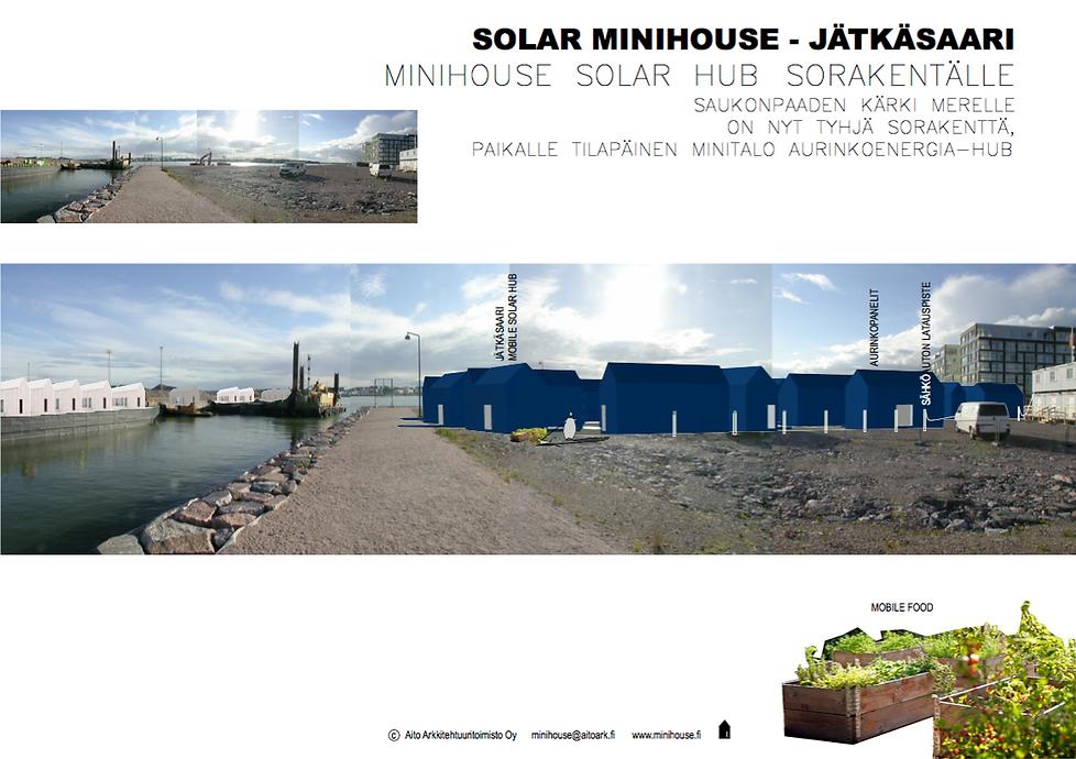 Jätkäsaari Solar Hub - Minitalo aurinkoenergia