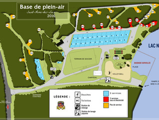 Plan officiel du camping de la Base de plein air du lac-Nairne