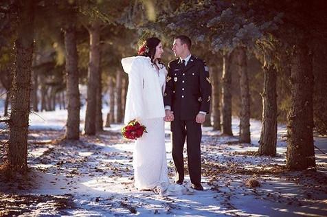 Brooklyn and Danny's winter wedding! #yx