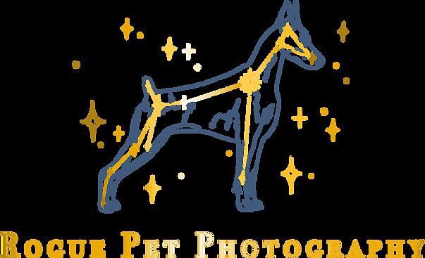 Rogue Pet Photography Logo Dog Constellation