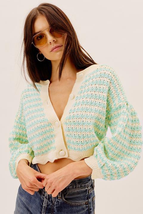 Lizzy Stripe Knit Cardigan