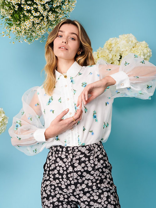Dainty May Embroidered Blouse