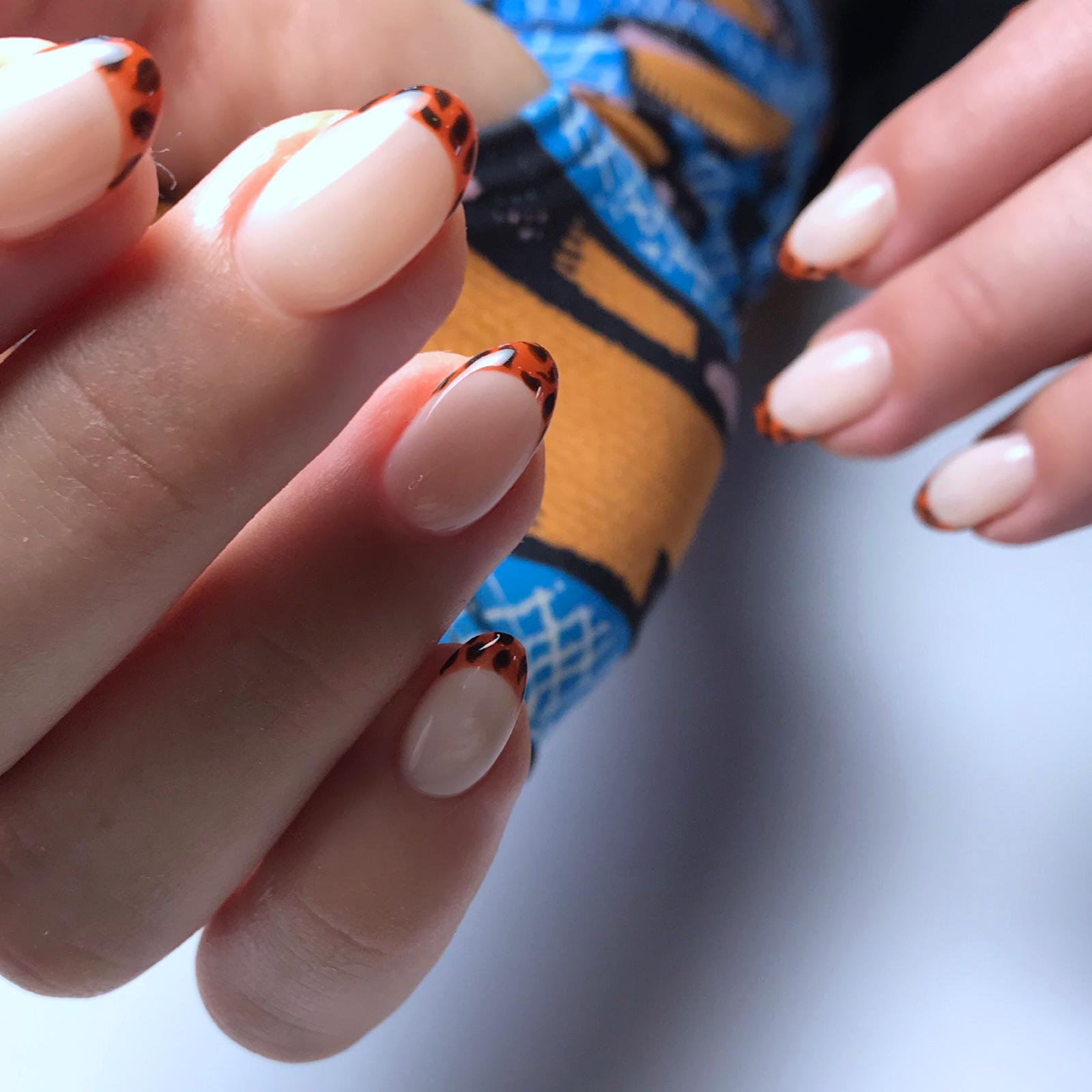 Leopard French Nails by Le diX Paris
