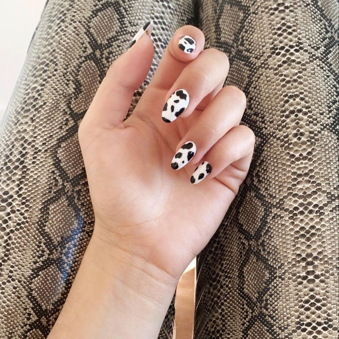Cow Design Nail Art by Le diX concept Paris