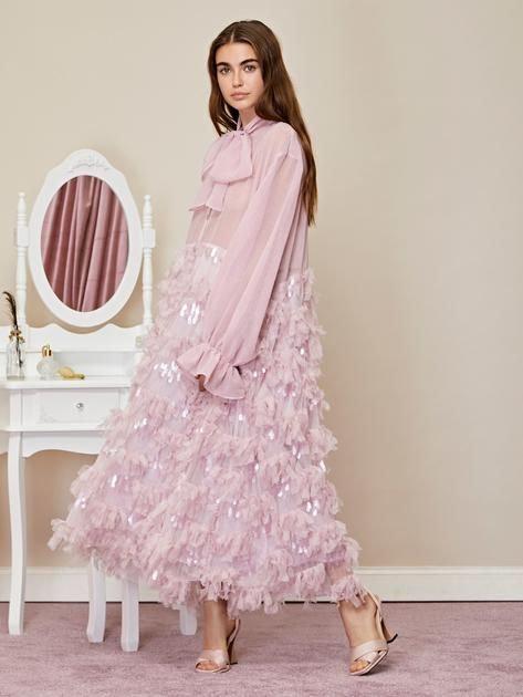 Ruffle Ready Bow Midi Dress