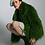 Thumbnail: Green faux fur jacket with a collar
