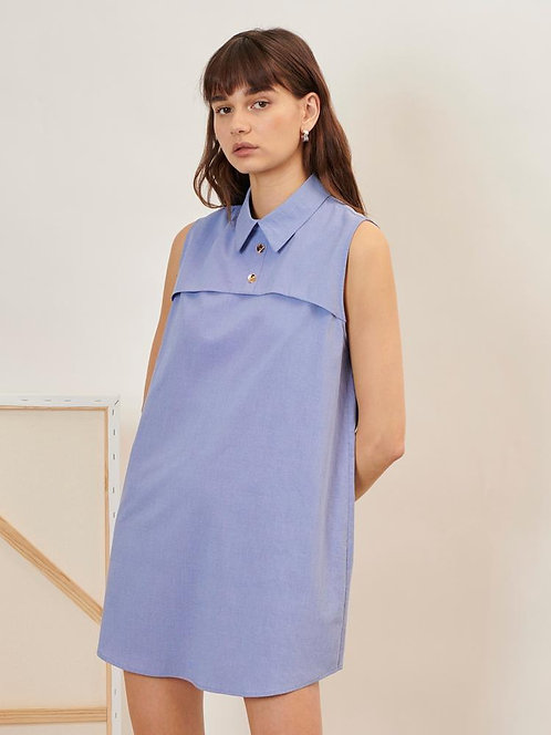 Realist Sleeveless Shirt Dress