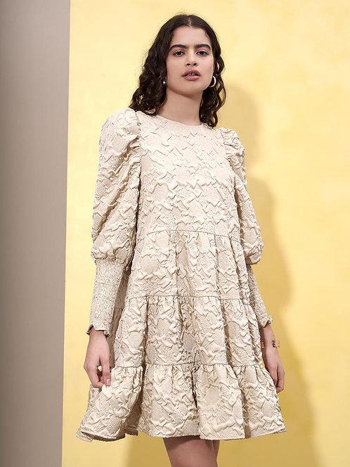 Diffusion Jacquard Mini Dress Regular