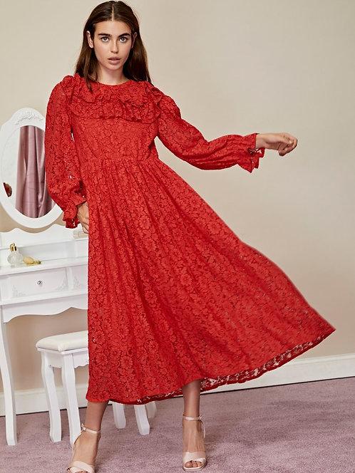 Antoinette Lace Midi Dress